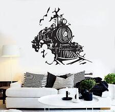 Vinyl Wall Decal Train Railway Kids Room Stickers Mural (ig4138)