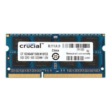 Crucial 8GB Laptop Memory PC3L 12800S DDR3 DDR3L 1600MHz CL11 SODIMM RAM 1.35V