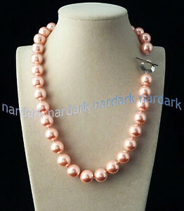 Rare Huge 14mm Genuine Mix Color South Sea Shell Pearl Round Beads Necklace 18''