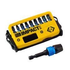CK Tools T4510 BLU ACCIAIO Impatto Bit Set di 10-PZ/PH