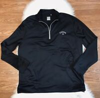 Callaway Weather Series 1/2 zip Mens XL Pullover Sweater Waffle Knit Black Golf
