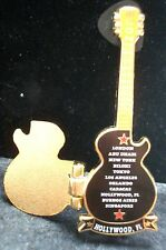 HRC Hard Rock Cafe Hollywood Florida Ambassadors of Rock 2008 Hinged Guitar LE