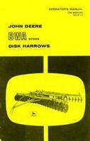John Deere BWA  Disk Harrow Operators Manual JD