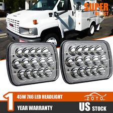 GMC TopKick C4500 C5500 Trucks 2X LED Headlight Sealed High Low Beam HeadLampes