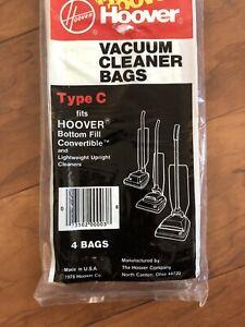 Hoover Type C Upright Vacuum Cleaner Bags 40100003C 4 PACK Genuine Hoover OEM