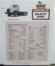 1977 Mack Trucks Model DM 897ST Diagram Dimensions Sales Brochure Original