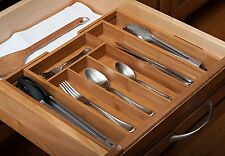 7 Compartment Expandable Cutlery Tray Holder Tidy Drawer Draw Organiser Storage