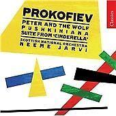Peter and the Wolf, Pushkiniana (Jarvi, Scottish No) CD NEW