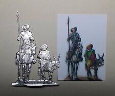 Estaño personaje plana personaje Don Quijote y Sancho Panza altura total 110mm Flat figure