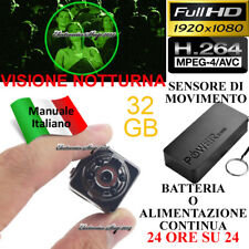 Spy Micro Camera Spia 32 GB FULL HD MOTION DETECTION TELECAMERA NIGHT VISION
