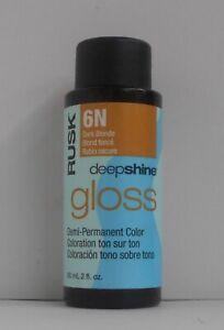 RUSK DEEP SHINE GLOSS Demi-Permanent Professional LIQUID Hair Color ~ 2 fl. oz.