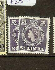ST LUCIA  (B1201) QEII  5C  SG176-176A  MOG