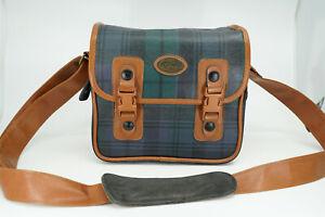 Vintage Retro Fotima Tartan Camera Kit Shoulder Bag