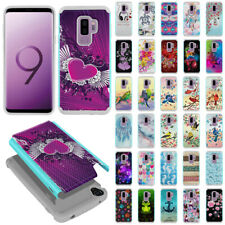 """For Samsung Galaxy S9 Plus 6.2"""" Rugged Hybrid Silicone Hard Rubber Case Cover"""