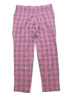 authentic BURBERRY London Pants Pink Nova Check Plaid Size L trousers