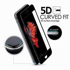 5D Gorilla completo curvo Pegamento proteger de Vidrio Templado para Apple iPhone 7, 8-Negro