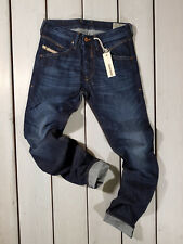 RRP 179USD NEW DIESEL BELTHER 0R0S3 Men's REGULAR SLIM TAPERED  Jeans W28 L32