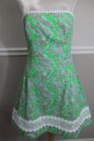 Lilly Pulitzer Women's Shorley Blue Jordan Dress Size 10 (r200