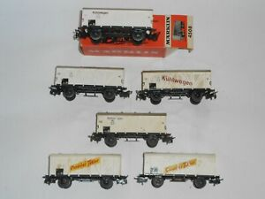 Marklin 4508 Kuhlwagon Boxcars x 6. Good condition. For 3 rail AC. One boxed
