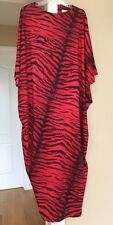 Vintage A Royal Robe House Dress Night Gown Muumuu Size Petite Red Black Tiger A