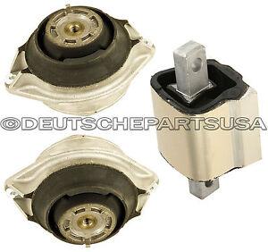Mercedes W140 S320 R129 SL320 SL500 Engine Motor Transmission Mount Mounts Set 3