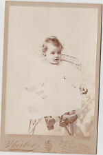 Victorian Young Girl By Wheelers Pittsfield, MASS CABINET PHOTO !!! WOW