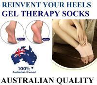 NEW Dry Cracked Heel Gel Socks Cushion  Foot Healing Spa Moisturising Feet