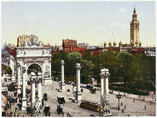 ANTIQUE & VERYRARE 1900 PHOTOCHROM Detroit Photographic Co DPC NAVAL ARCH, NYC