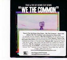 (DZ557) Thao & The Get Down Stay Down, We The Common - 2013 DJ CD