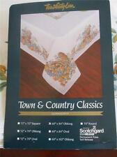 "Town Country Classic Linen Cornucopia Oblong 60"" x 84"" Table Cloth 1990 Vintage"