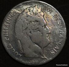 5 FRANCS ARGENT LOUIS-PHILIPPE .1837 W .TETE LAUREE voir scans   B11