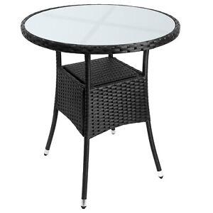 Poly Rattan Beistelltisch Balkontisch Gartentisch Tisch Garten Möbel Rund Ø60cm