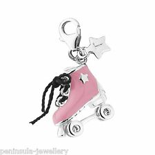 Tingle Roller Skate Sterling Silver clip on Charm with Gift Bag and Box SCH287