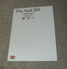 AUDI 200 BROCHURE 1984-1985 Inc 200 Turbo