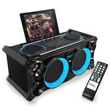 SPLBOX200 120 Watt Akku Lautsprecher Box Anlage DJ USB Bluetooth Radio LED Licht