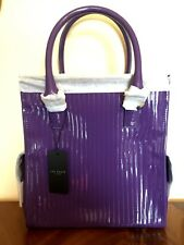 TED BAKER RHANA Deep Purple   Quilted Enamel Large tote bag RRP £179.00