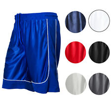 MEN'S *PREMIUM MESH BASKETBALL SHORTS GYM FITNESS WORKOUT S-5XL *7 COLORS