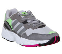 Adidas Yung 96 Trainers Grey Two Grey Three Shock Pink Trainers Shoes