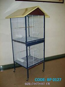 Bird Cage - Double storey -Good breeding cage for lovebirds finch cockateils