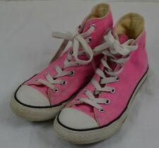Converse All Star Pink Hi-Top Trainers size UK 2 UE 34 Girls Kids Childs Adults