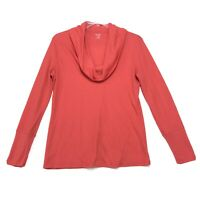 a.n.a. Cowl Neck Thermal Long Sleeve Pullover T Shirt Womens XL Salmon Orange