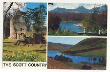 Old Postcard - The Scott Country (Various Views) (Colourmaster) - Unposted 1966