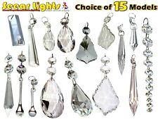 Cut Glass Crystals Chandelier Droplets Wedding Drops Beads Light Spare Parts