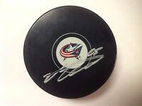 Markus Nutivaara Signed Autographed Columbus Blue Jackets Hockey Puck a