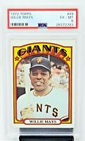 1972 Topps #49 HOF Giants WILLIE MAYS Vintage Baseball Card PSA 6 EXCELLENT-MINT