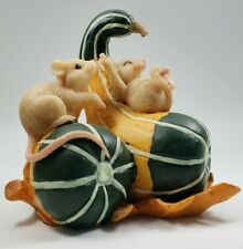 Charming Tails Silvestri Squash Slide Mice Fall Resin Figurine 1980s Retired