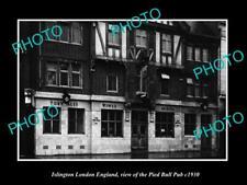 OLD LARGE HISTORIC PHOTO ISLINGTON LONDON ENGLAND THE PIED BULL PUB c1930