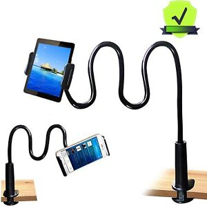 New Gooseneck Tablet Holder Stand Flexible Arm Clip Mount for iPad Galaxy Tabs