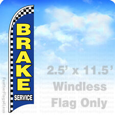 BRAKE SERVICE - WINDLESS Swooper Flag Feather Banner Sign 2.5x11.5 checkered bb
