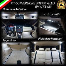 KIT LED INTERNI BMW X3 E83 CONVERSIONE COMPLETA 6000K ULTRALUMINOSI
